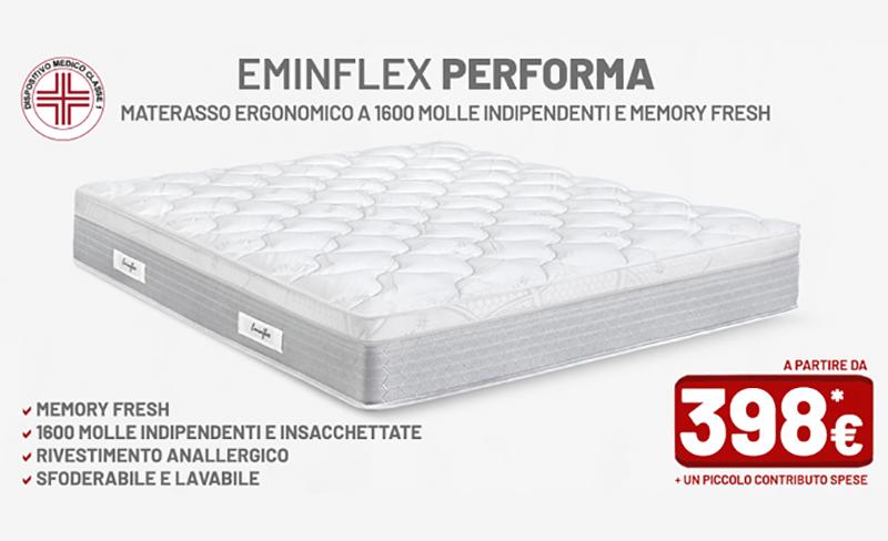 Offerte materassi eminflex performa for Prezzi materassi eminflex